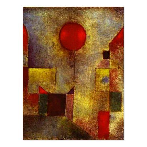 Rote Ballon-Postkarte Paul Klees