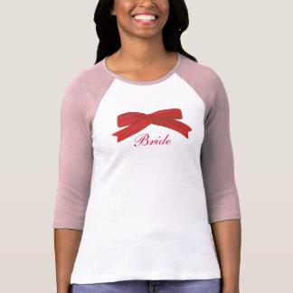 Rote Bandbogen Brautt-shirts T-Shirt