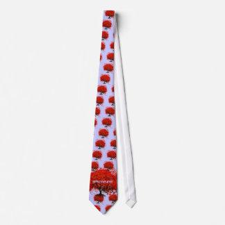 Rote Baum-Hochzeits-T - Shirts, Geschenke, Personalisierte Krawatte
