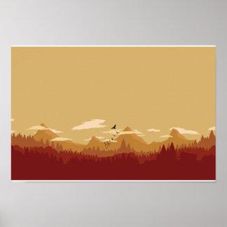 Rote Berge Poster