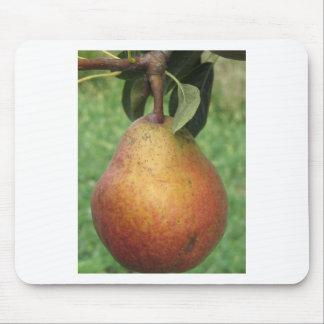 Rote Birne des Singles, die am Baum hängt Mauspad