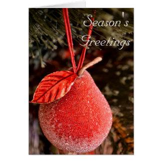 Rote Birnen-Weihnachtskarte Karte