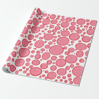 Rote Blasen erleichterten Packpapier
