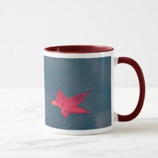Rote Blatt-Tasse Tasse