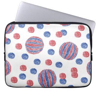 """Rote blaue Ball-Laptop-Hülse 13"""" Laptop Sleeve"""
