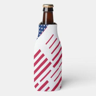 Rote blaue weiße Streifen-Sterne USA cooler Flaschenkühler