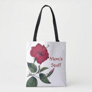 Rote Blume in der botanischen Art Tasche