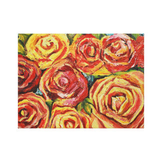 Rote Blume Leinwanddruck