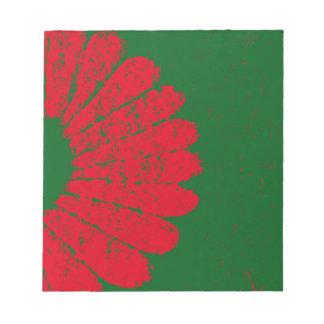 rote Blume Notizblock