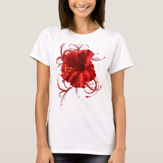 Rote Blume T-Shirt