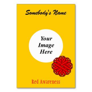 Rote Blumen-Band-Schablone durch Kenneth Yoncich Karte