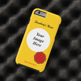 Rote Blumen-Band-Schablone durch Kenneth Yoncich Tough iPhone 6 Hülle