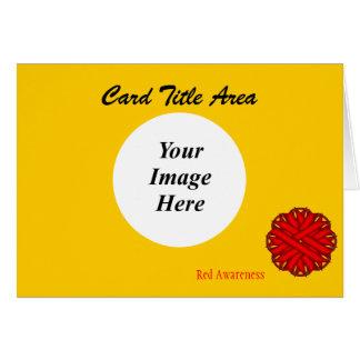 Rote Blumen-Band-Schablone Karte