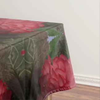 Rote Blumen-Blumenstrauß-Baumwolltischdecke Tischdecke