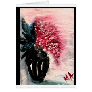 Rote Blumen, die süßen Geruch verbreiten Karte
