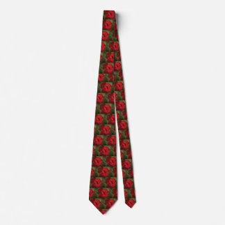 Rote Blumen-Hals-Krawatte Krawatte