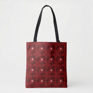 Rote Blumen in 3D, Artdeco Tasche