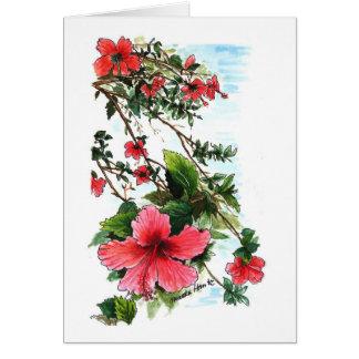 Rote Blumen Karte