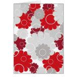 Rote Blumen - Karte