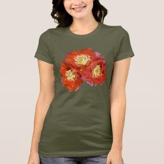 Rote Blumen-Malerei T-Shirt