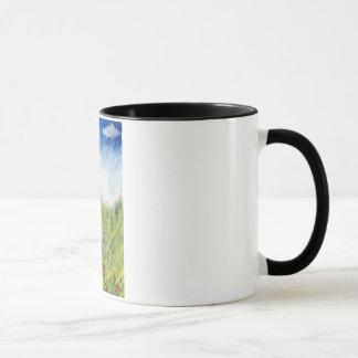 Rote Blumen-Tasse Tasse