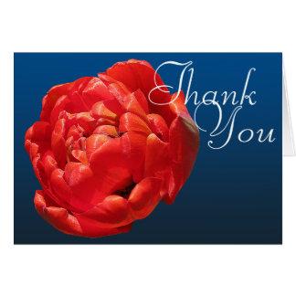 Rote Blumen Tulpe-danken das bunte Fotochic-Mod Karte