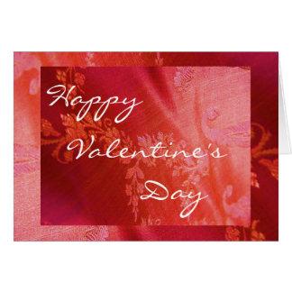 Rote Blumenkarte des Valentinsgruß-III - Grußkarte