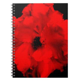 rote BlumenLiebe contrast.jpg Spiral Notizblock