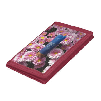 Rote Blumenmunitions-Muschel-Geldbörse