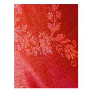 Rote Blumenpostkarte der eleganz-I - kundengerecht Postkarten
