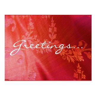 Rote Blumenpostkarte - kundengerecht Postkarte