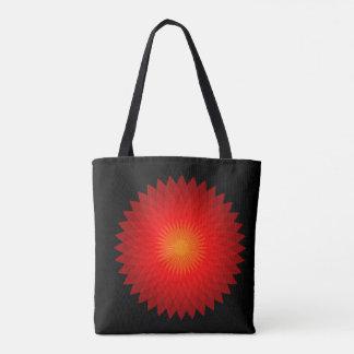 Rote Blüte Tasche
