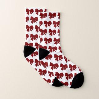 Rote Bogen-Weihnachtssocken Socken