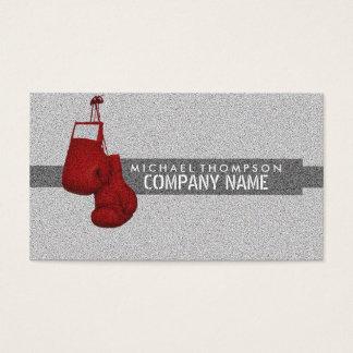 Rote Boxhandschuhe, Korn-Effekt, boxend Visitenkarte