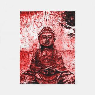 Rote Buddha-Schmutz-Kunst-Decke Fleecedecke