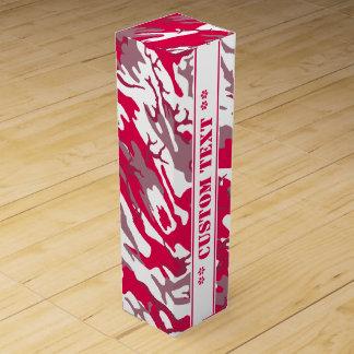Rote Camouflage mit kundenspezifischem Text Weinbox