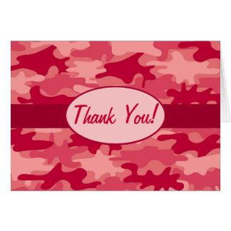Rote Camouflage-Tarnung danken Ihnen Karte