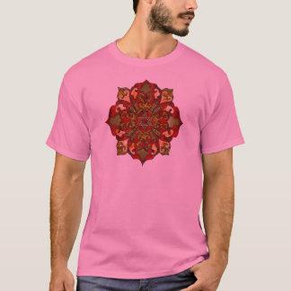 Rote Chanukka-Mandala T-Shirt
