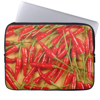 Rote Chili-Paprikaschotendruck-Laptophülse Laptop Sleeve