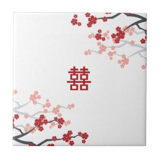 Rote chinesische Hochzeits-kundenspezifische Fliese