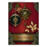 Rote christliche Weihnachtskarten Grußkarte
