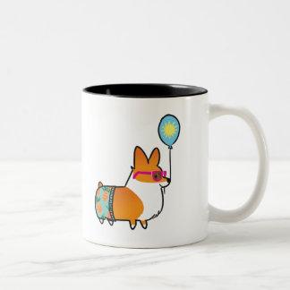 Rote Corgi-Sommer-Spaß-Tasse | CorgiThings Zweifarbige Tasse