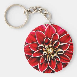 Rote Dahlie-BlumenBlumen-Blumenblatt-Blüten-Garten Schlüsselanhänger