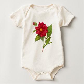 Rote Dahlie durch Pierre-Joseph Redoute Baby Strampler