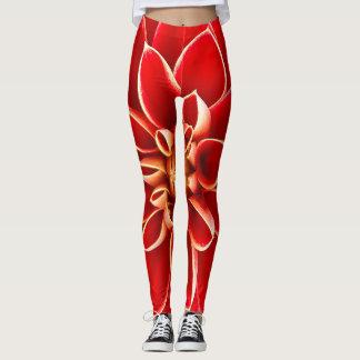 Rote Dahlie Leggings