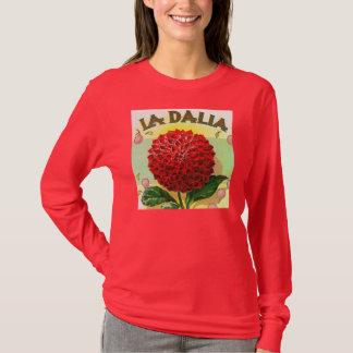Rote Dahlie Vintag T-Shirt