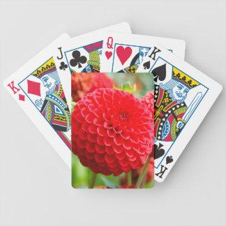 Rote Dahlien im Sommer Bicycle Spielkarten