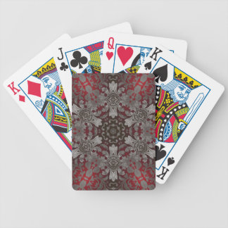rote der Renaissance gotische metallische und Bicycle Spielkarten