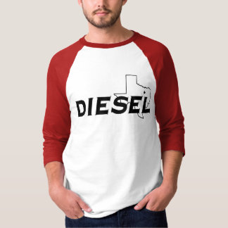 Rote/des Schwarz-3/4 Dieselhülse T-Shirt