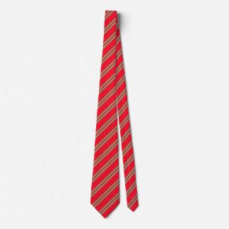Rote diagonale Streifen Krawatte